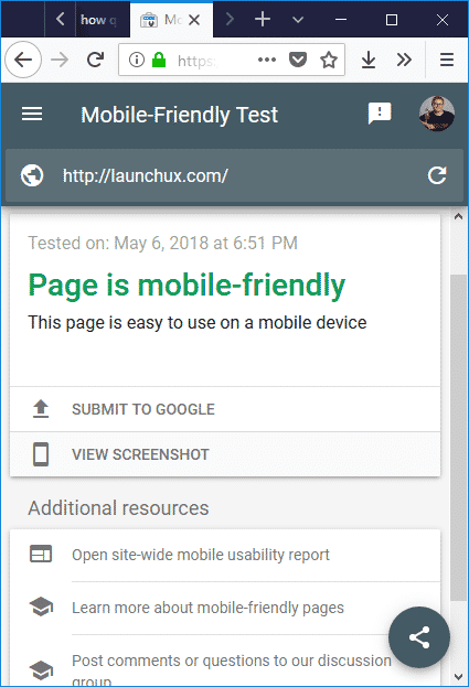 Friendly Mobile Website